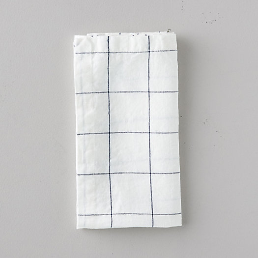 View larger image of Lithuanian Linen Napkin, Stone Washed Windowpane