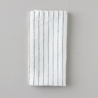 Lithuanian Linen Napkin, Stone Washed Stripe