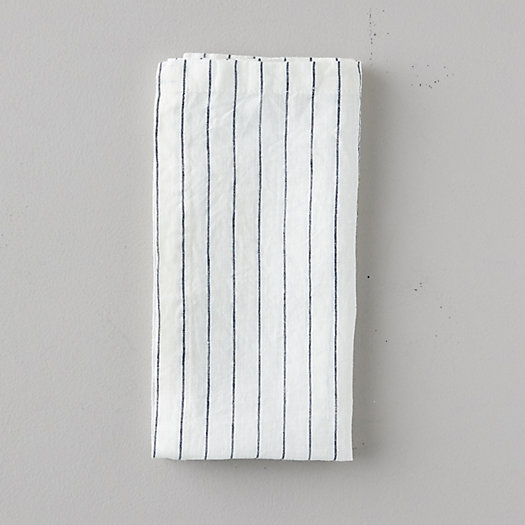 View larger image of Lithuanian Linen Napkin, Stone Washed Stripe