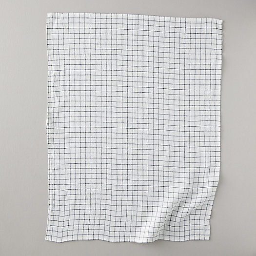 View larger image of Lithuanian Linen Tea Towel, Stone Washed Check