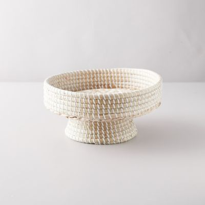 Woven Seagrass Footed Bowl
