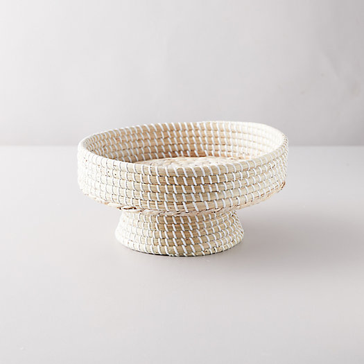 View larger image of Woven Seagrass Footed Bowl