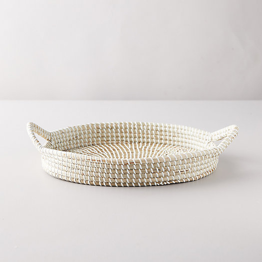 View larger image of Seagrass Oval Tray with Handles
