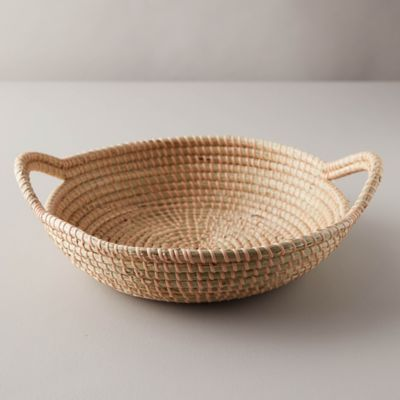 Woven seagrass basket with handles - Terrain