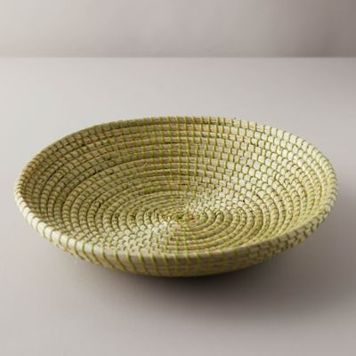 Woven Seagrass Low Bowl