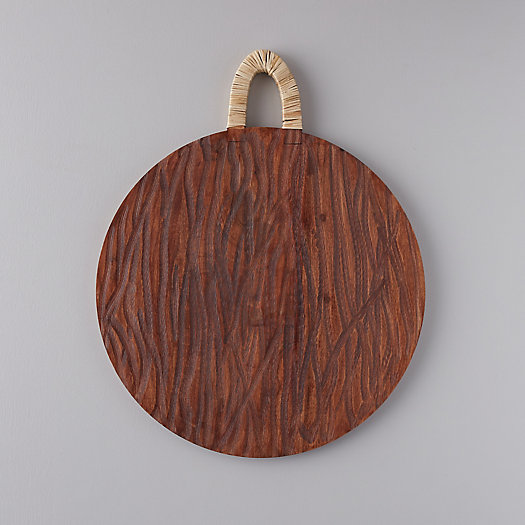 View larger image of Acacia Wood + Rattan Cutting Board