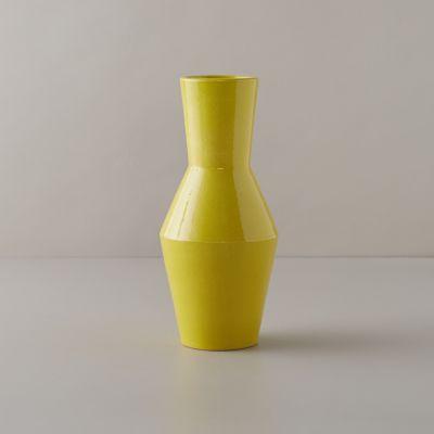 Geometric Citron Vase