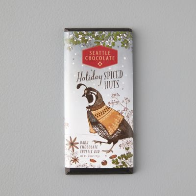 Holiday Spiced Nuts Dark Chocolate Truffle Bar