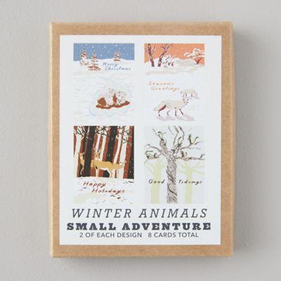 Winter Animals Cards, Set of 8