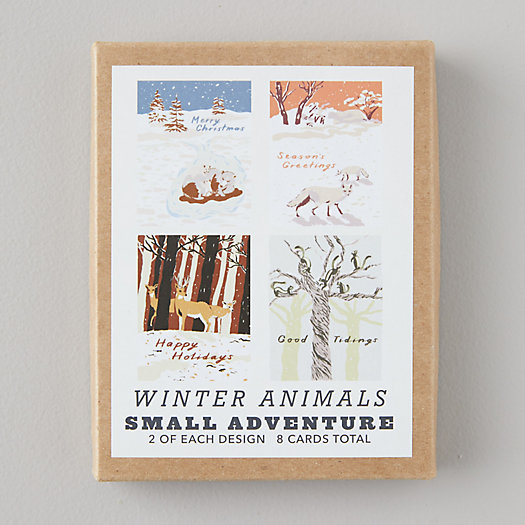 View larger image of Winter Animals Cards, Set of 8