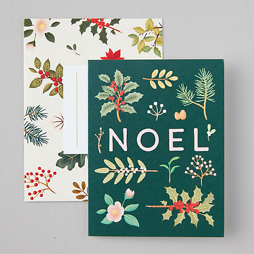 View larger image of Botanical Noel Cards, Set of 8