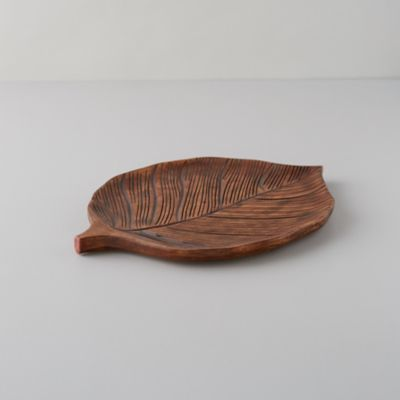Mango Wood Marina Leaf Serving Platter