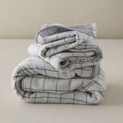 Windowpane Cotton Washcloth