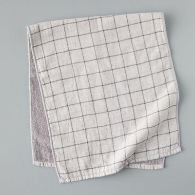 Windowpane Cotton Hand Towel