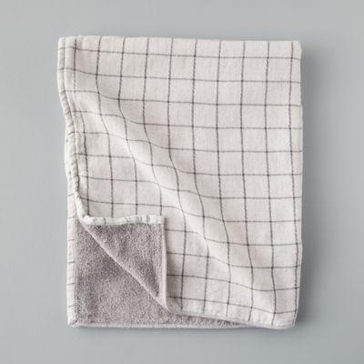 Windowpane Cotton Bath Towel
