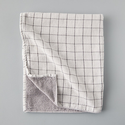 View larger image of Windowpane Cotton Bath Towel