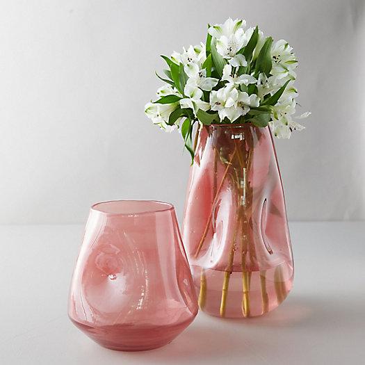 View larger image of Dimpled Cylinder Vase, Pink