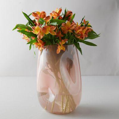 Dimpled Cylinder Vase, Rose