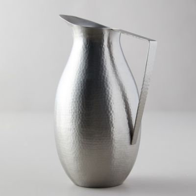 Hammered Pewter Pitcher