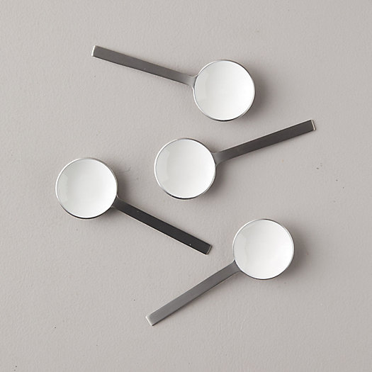View larger image of Hammered Pewter + Enamel Spoons, Set of 4