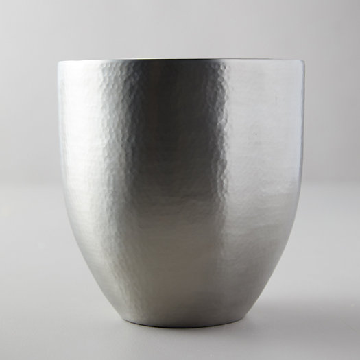 View larger image of Hammered Pewter + Enamel Ice Bucket
