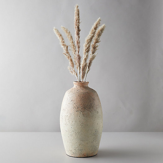 View larger image of Aged Ceramic Vase, Peach