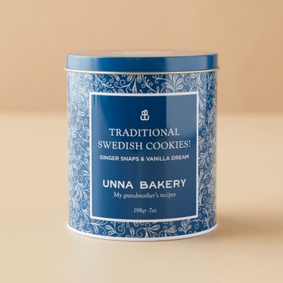 Traditional Swedish Cookies in Tin from Unna Bakery