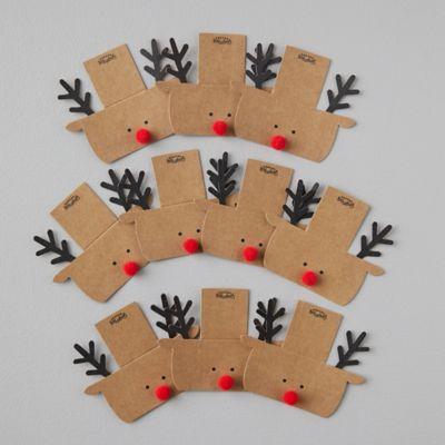 Reindeer Place Cards, Set of 10