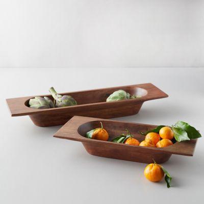 Hewn Wood Bread Bowl