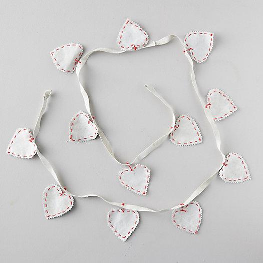 View larger image of Canvas Heart Garland