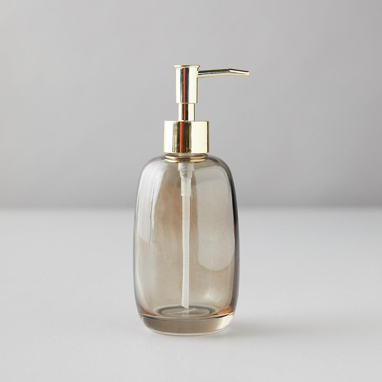 Sepia Glass Soap Dispenser