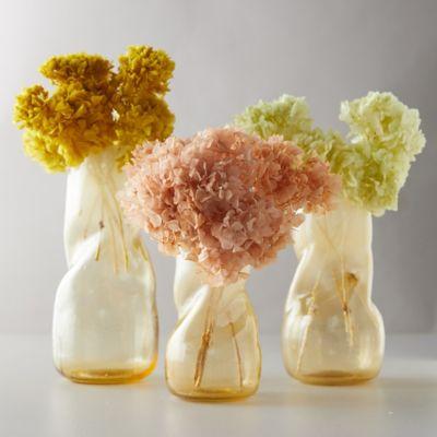 Color Dip Twist Vase, Lemon Meringue
