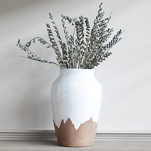 View larger image of Drip Glaze Clay Branch Vase