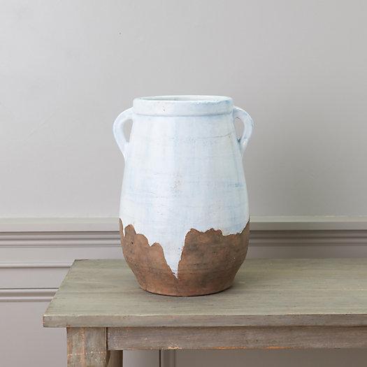 View larger image of Blue Wash Clay Jug Vase, Medium