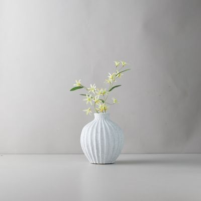 Clay Accordion Bulb Vase
