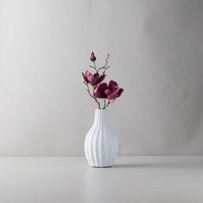 Clay Accordion Column Vase