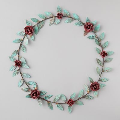 Iron Red Rose Wreath