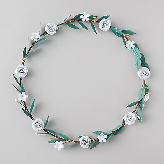 View larger image of Iron White Flower Wreath