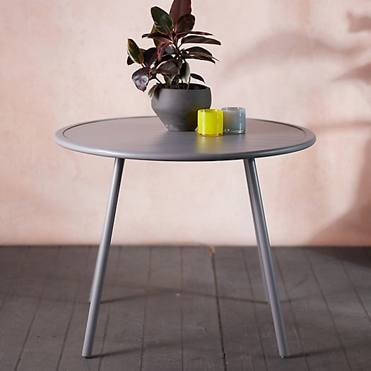 View larger image of Oxbow Slatted Steel Dining Table
