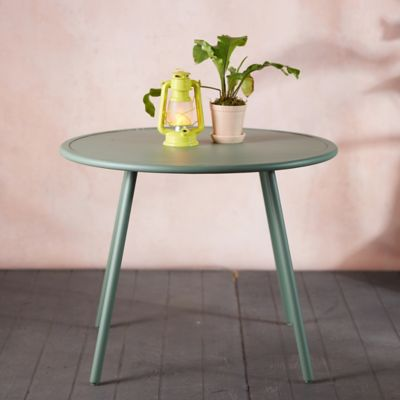 Oxbow Slatted Steel Dining Table