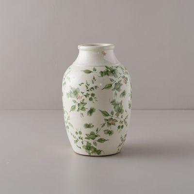 Green Chinoiserie Jar Vase