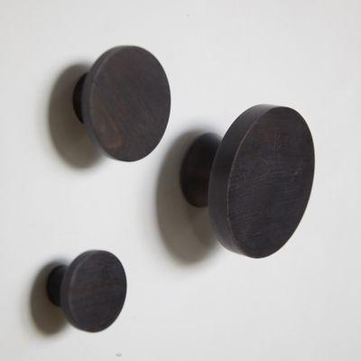 Blackened Beech Wood Hooks, Set of 3