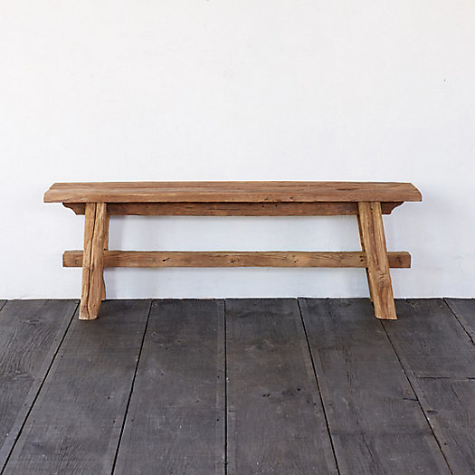View larger image of Farmhouse Teak Bench