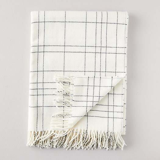 View larger image of Icy Plaid Lambswool Throw