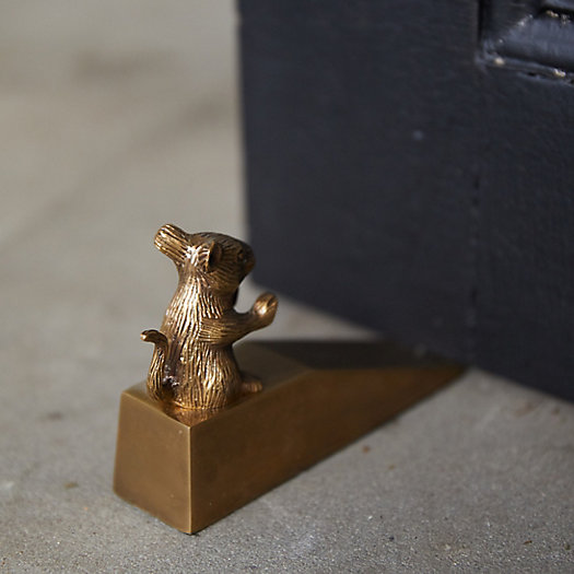 View larger image of Brass Mouse in the House Door Stop
