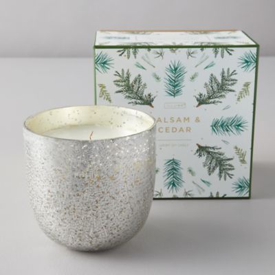 Illume Mercury Glass Candle, Balsam + Cedar