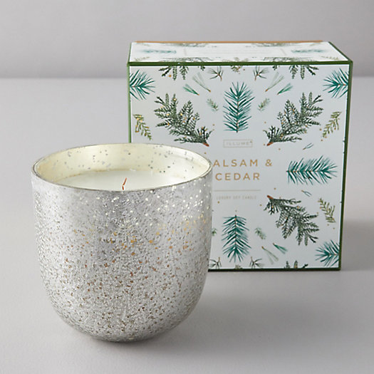 View larger image of Illume Mercury Glass Candle, Balsam + Cedar