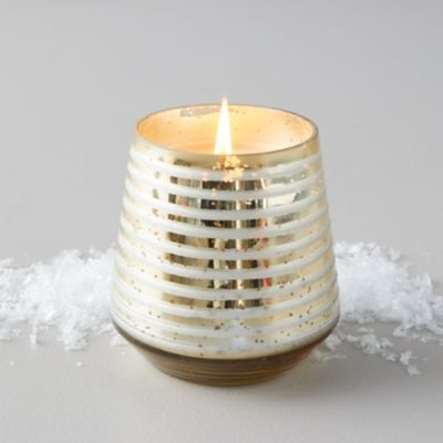 Illume Etched Glass Candle, Winter White