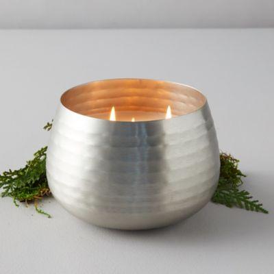 Illume Textured Metal Candle, Balsam + Cedar