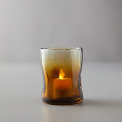 Melted Ombre Glass Votive